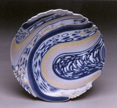 Low Bowl with Carved Edge