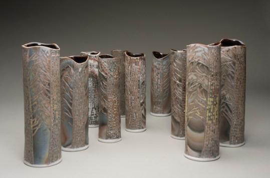 Forest Transformed Vases
