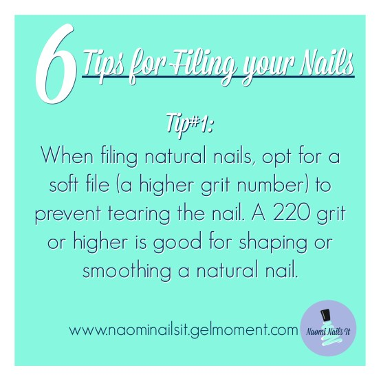 filing nails, tips for filing nails, nail tips, manicure, gelmoment