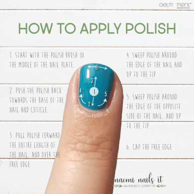 how to apply polish, how to paint your nails, allergic to gel polish, gelmoment, gel polish, naomi nails it, nails, diy nails