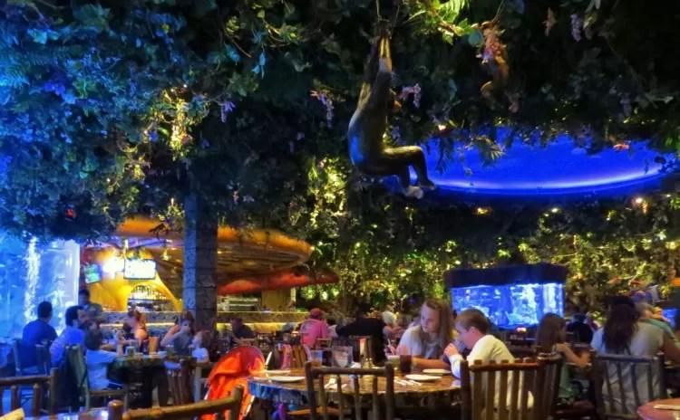 Rainforest Cafe – excelente opção para quem estiver com crianças em Orlando
