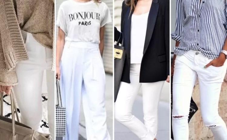 Como usar a temível calça branca?