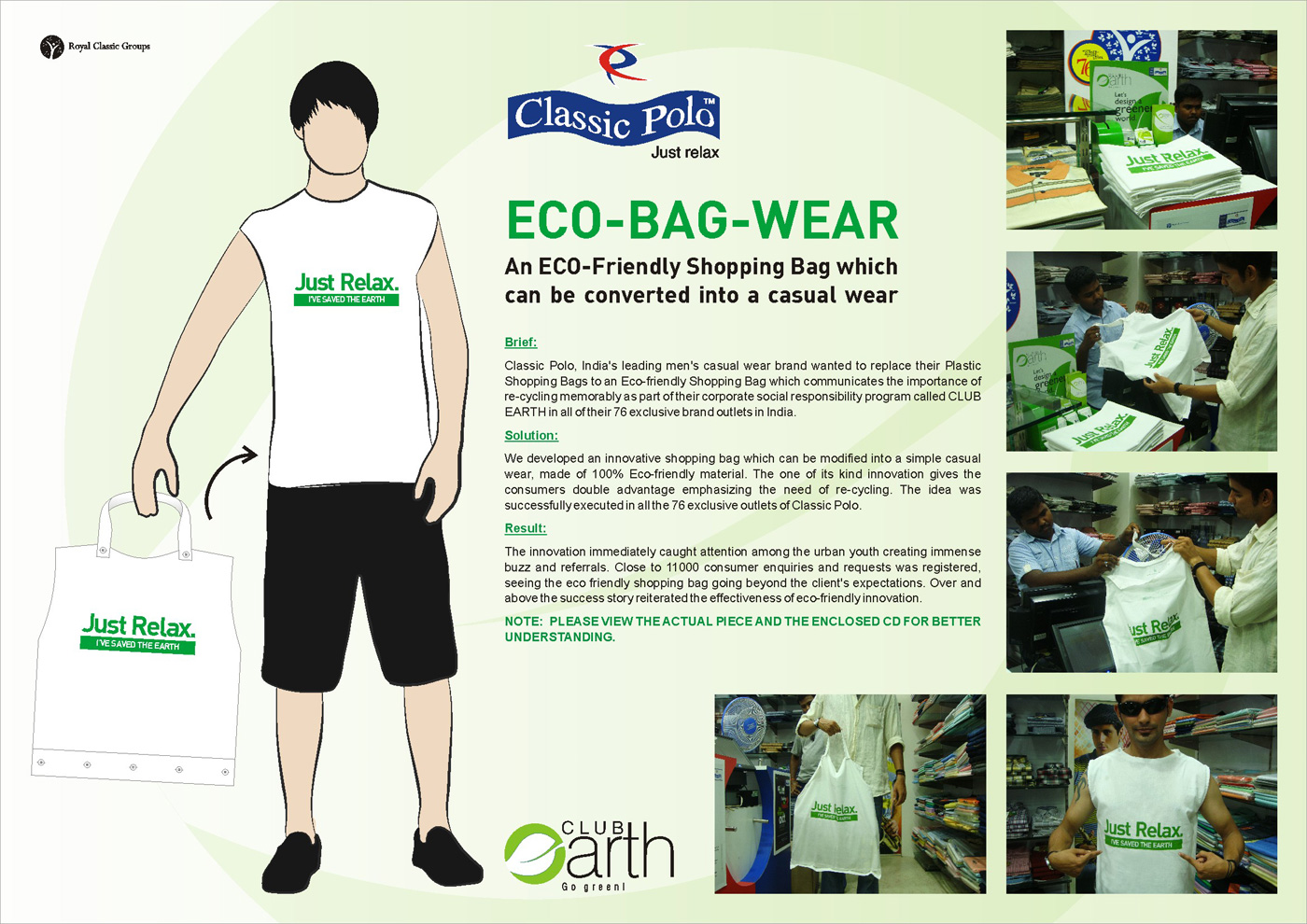 Classic Polo Ambient Advert By TCC: Eco Bag Wear