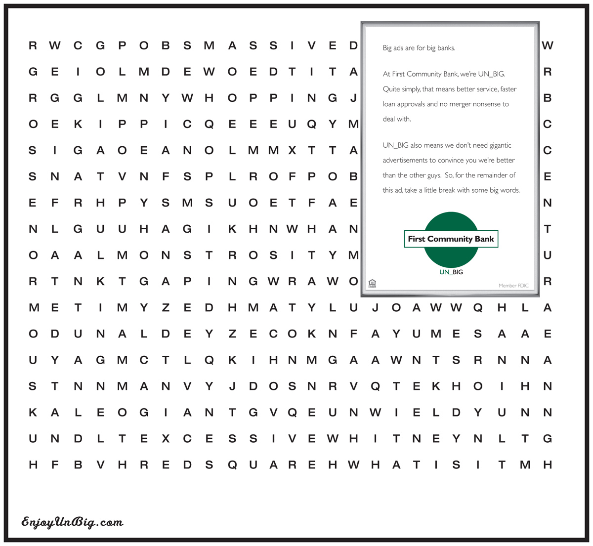 Print Advert By Word Search