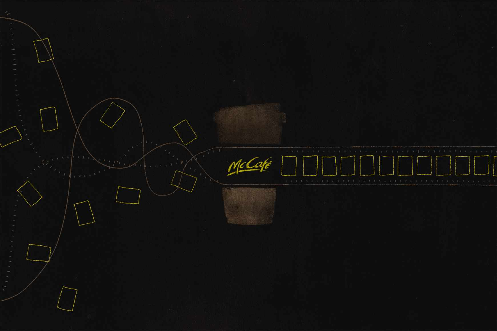 McCafé Print Ad - Think Straight, 2