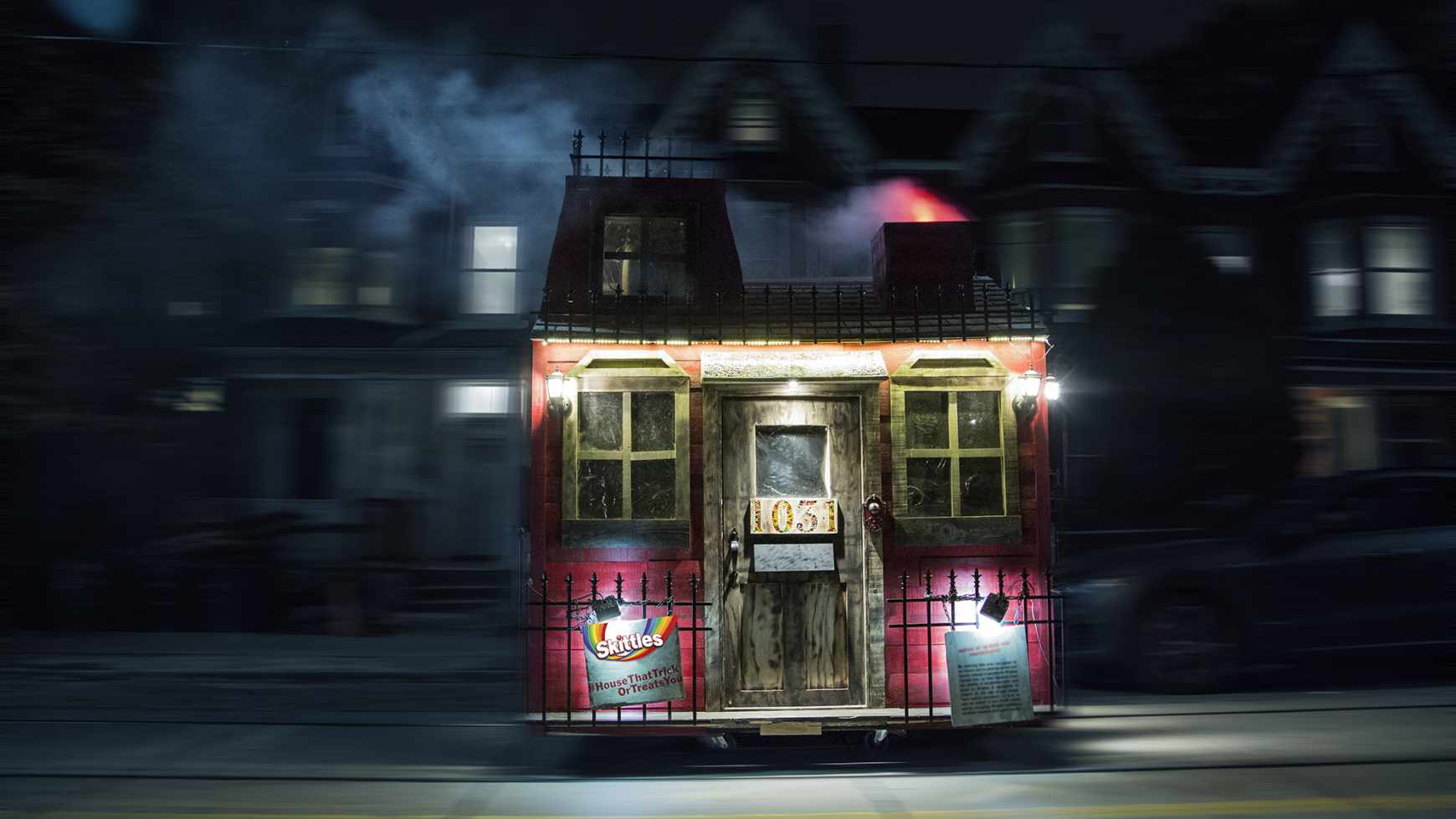 Skittles Ambient Ad - The House That Trick Or Treats You