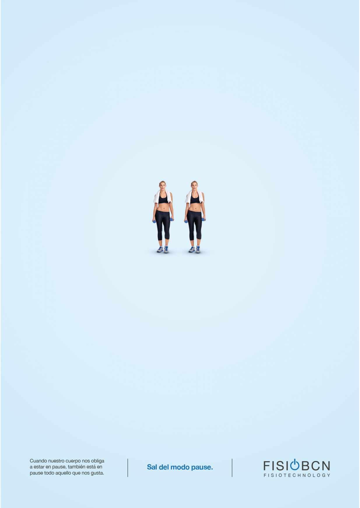 Fisio BCN Print Ad - Pause - Gym