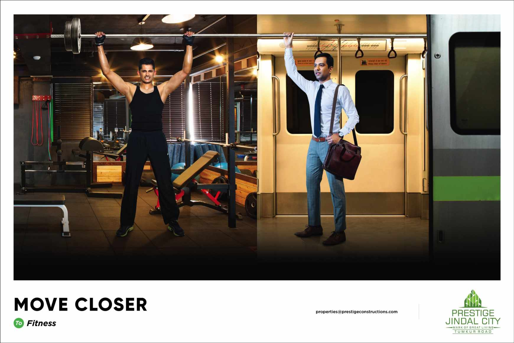 Prestige Jindal City Print Ad - Move Closer - Fitness