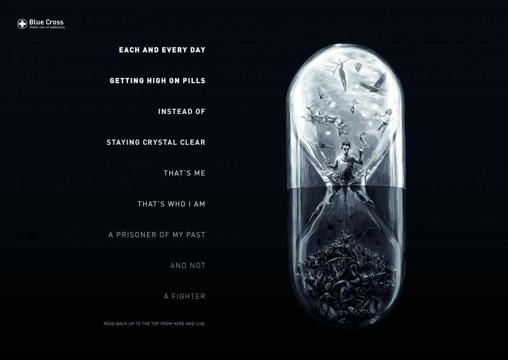 Blue Cross Print Ad - Reverse Poems, 3