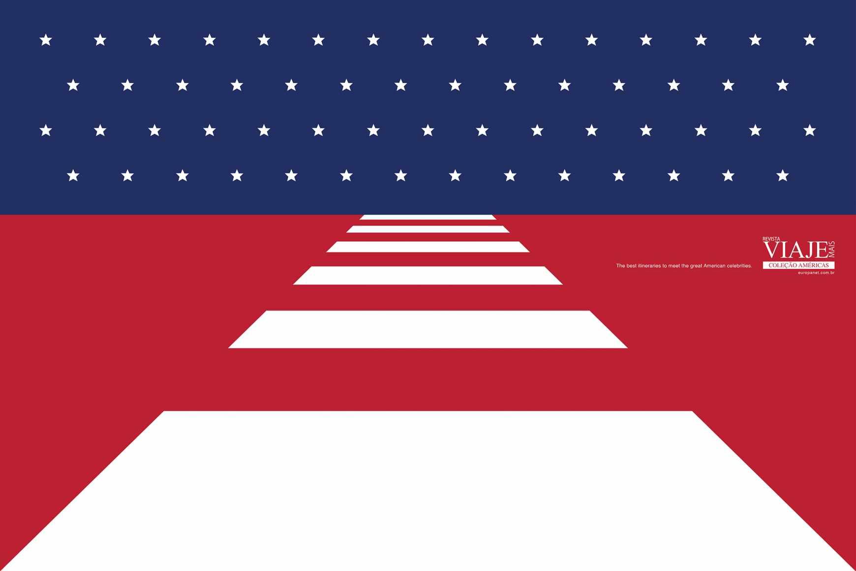 Editora Europa Print Ad - Flags - USA