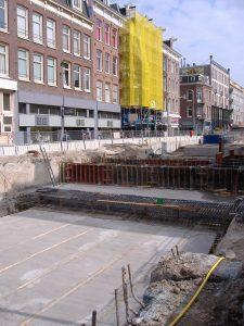 Bouw van de Noord/Zuidlijn-halte 'De Pijp' (Foto: Hippolyte)