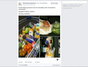 Screenshot van de facebookpagina van Al-Ighaatha (bron: facebook)