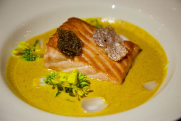 Salmon Curry at Winemaker Dinner