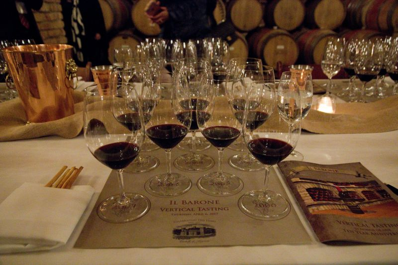 Ten Year Vertical Tasting of Il Barone