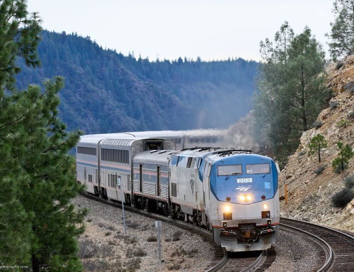Amtrak through the mountains
