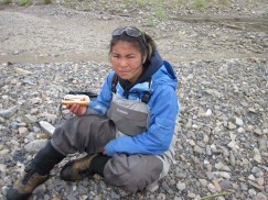 Lunch time with Beef Wranglers on the Upper Holokuk