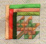 Log Cabin Leaf Quilt Block Twinchy