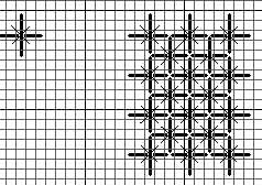 Chart for needlepoint stitch, double straight cross