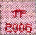 Celebrate needlepoint stitch sampler name & date block