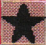 needlepoint five-pointed star from celebrate stitch sampler