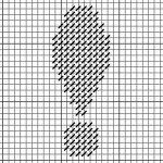 cross stitch and needlepoint chart of exclamation point