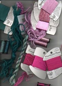 thread color scheme for needlepoint mystery based on stash threads