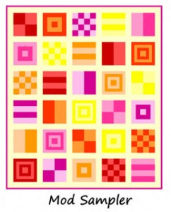 mod sampler quilt by oh frannsen