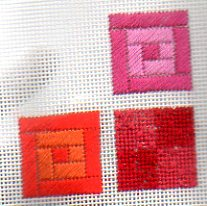 mod needlepoint sampler adapted by Janet Perry, part 1