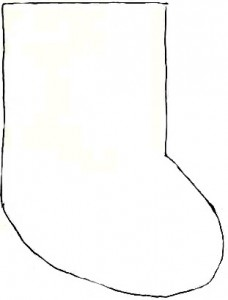outline for mini sock