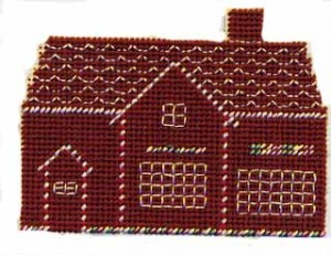plastic canvas needlepoint gingerbread house