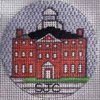 school needlepoint christmas ornament st john's college mcdowell hall