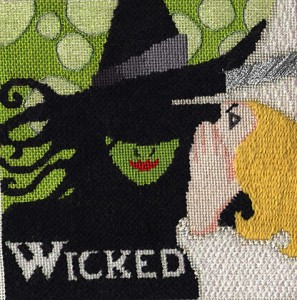wicked needlepoint by raymond crawford, stitch guide by janet perry
