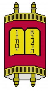 torah judaic needlepoint design free from craft stew