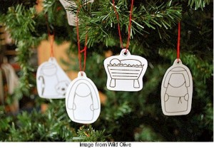 nativity line drawings for ornaments from wild olive