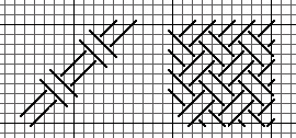 double woven stitch for needlepoint