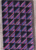 roman stripe amish quilt in needlepoint, designed by janet perry