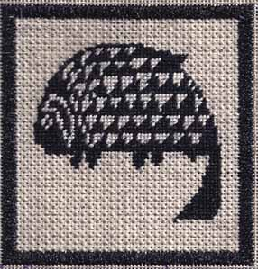 mimbres fish needlepoint by janet perry, available from whimsy & grace