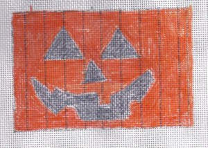 jack o'lantern needlepoint picture from janet perry