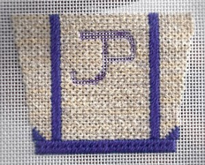 needlepoint tote stitched by needlepoint expert janet m. perry