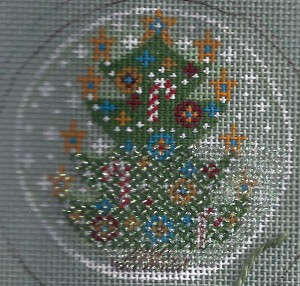 easter grass braid in needlepoint