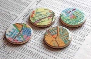 Make your own magnets from maps!