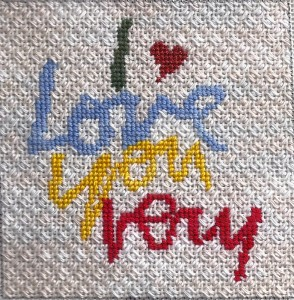 The lettering is stitched with Dinky DYes new silk & wool thread