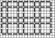 Lattice brickwork Blackwork pattern