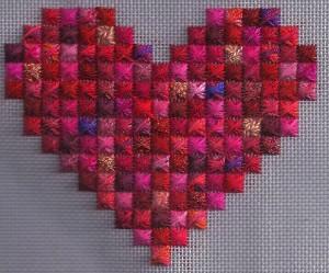 Rhodes Scrap Bag Heart, copyright Napa Needlepoint