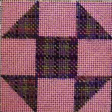Needlepoint plaid block, copyright  Napa Needlepoint