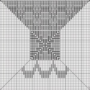 Jubilee spool block chart, copyright Napa Needlepoint