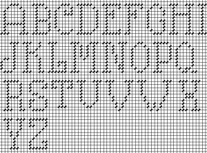 simple beautiful charted capital letters
