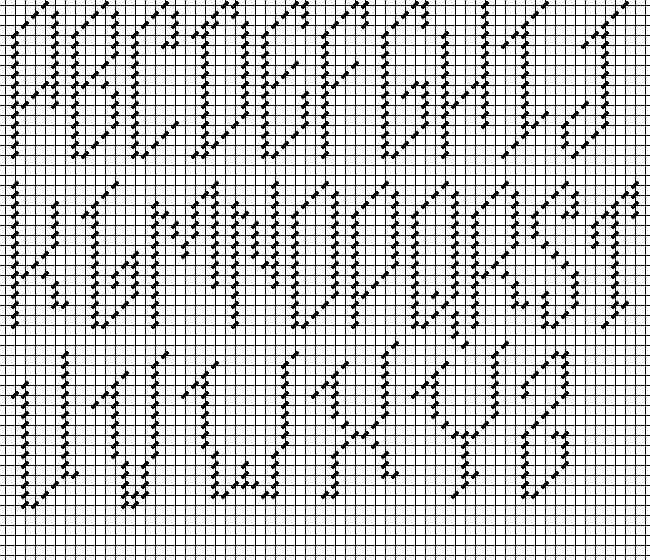 Simple And Slanted Charted Alphabets Nuts About Needlepoint
