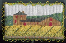 napa valley mustard needlepoint