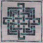 interlaced knots needlepoint
